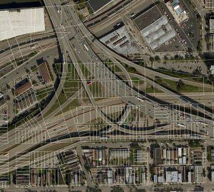 Dan Ryan and Stevenson expressway interchange in Bridgeport-Chinatown