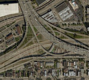 Dan Ryan and Stevenson expressway interchange in Bridgeport-Chinatown